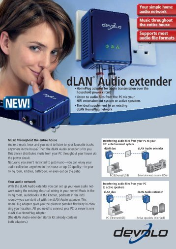 dLAN® Audio extender - Icecat
