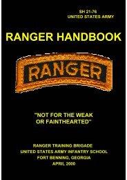 RANGER HANDBOOK - Clemson University
