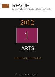 REVUE ARTS - Alliance Française Halifax