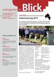 Ausgabe 27/2013 - Weingarten im Blick