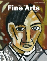 November/December 2012 Fine Arts Newsletter - Klein Independent ...