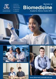 Biomedicine - Student Centre - University of Melbourne
