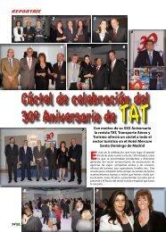 Cóctel celebración del 30 Aniversario de TAT - TAT Revista