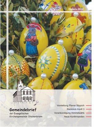 Gemeindebrief - evangelische Kirchengemeinde Steinenbronn