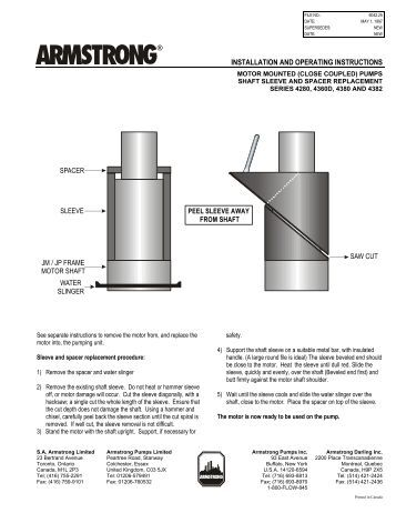 horizontal split case trouble shooting guide armstrong pumps installation and operating instructions armstrong pumps