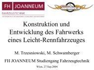 Konstruktion und Entwicklung des Fahrwerks ... - FH JOANNEUM
