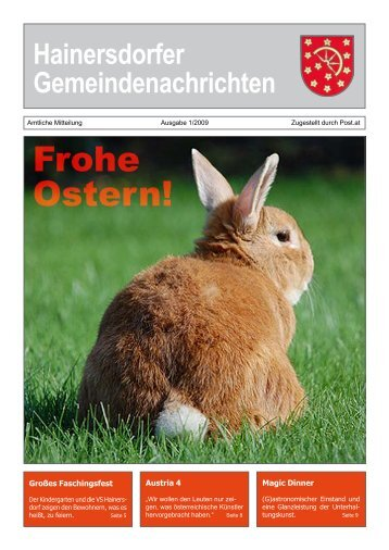 Gemeindezeitung 01-09 (998 KB) - Gemeinde Hainersdorf
