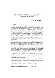 Kıbrıs Sorununun Türkiye-AB İlişkilerine ... - Gazi Üniversitesi