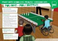 Polybat challenge card - School Games