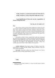 Parça Başına Çalışmanın Hukuki Niteliği ve ... - Gazi Üniversitesi