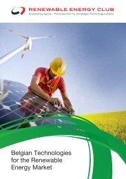 Belgian Technologies for the Renewable Energy Market - Agoria