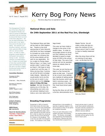 Newsletter vol 6 issue 2.pdf - The Kerry Bog Pony
