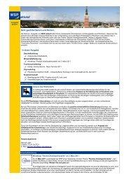 WSP aktuell, Ausgabe Februar 2011 - Wirtschaft und Stadtmarketing ...