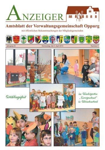 Amtsblatt 04 - Verwaltungsgemeinschaft Oppurg
