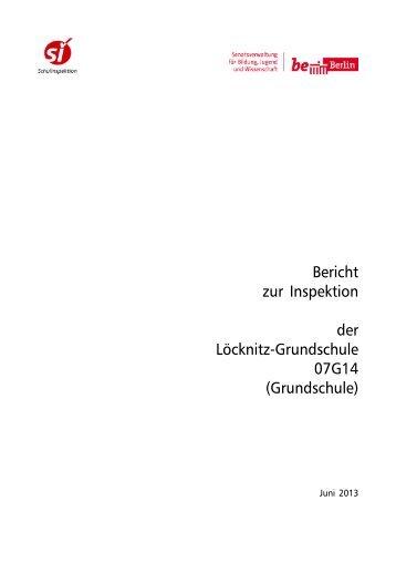 Bericht der Schulinspektion - Loecknitz-Grundschule