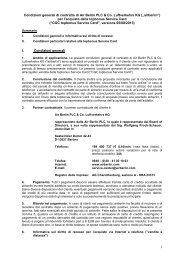 Condizioni Generali topbonus Service Card - Airberlin