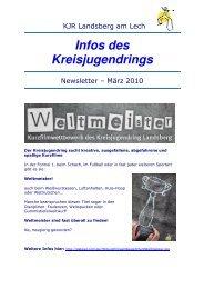 NewsletterKJR Landsberg - Maerz 2010 - Kreisjugendring ...