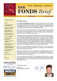 Der Fonds-Check Vertrauenssache Projektentwicklung - WMD ...
