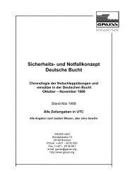 Sicherheits- und Notfallkonzept Deutsche Bucht