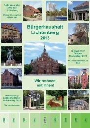 Broschüre Bürgerhaushalt Lichtenberg 2013