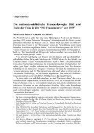 Die nationalsozialistische Frauenideologie: Bild und Rolle der Frau ...