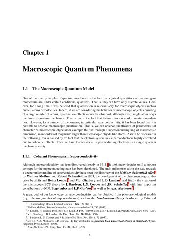 Macroscopic Quantum Phenomena
