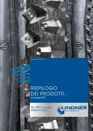RIEPILOGO DEI PRODOTTI. - Lindner-Recyclingtech GmbH
