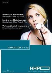 TaxDOCTOR 2/12 - HHP - Hammerschmied Hohenegger und Partner