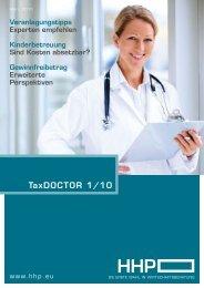 TaxDOCTOR 1/10 - HHP - Hammerschmied Hohenegger und Partner