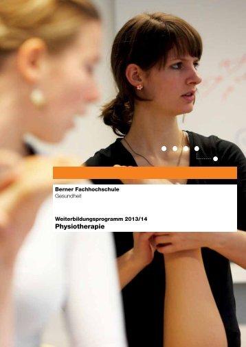 Physiotherapie - Gesundheit - Berner Fachhochschule