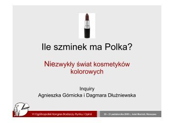 Ile szminek ma Polka? - Inquiry