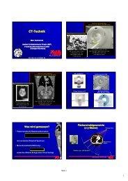 CT-Technik [Kompatibilitätsmodus] - Instituts für Medizinische Physik