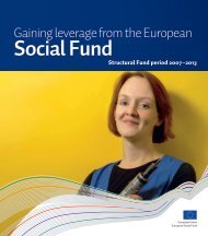Gaining leverage from the European Social Fund (pdf)