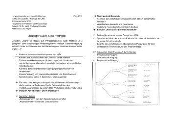 """Idiomatik"" nach H. Feilke (1994/1996) - PD Dr. Wolfgang Schindler"