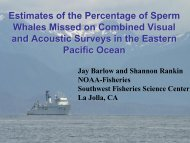 Estimates of the Percentage of Sperm Whales Missed on ... - CREEM