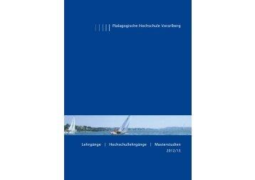 Weiterbildung 2012f.indd - Pädagogische Hochschule Vorarlberg