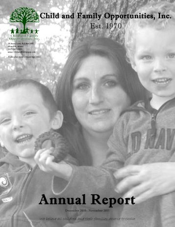 Annual Report - Child and Family Opportunities