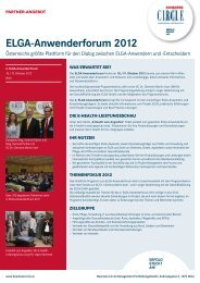 ELGA-Anwenderforum 2012 - Business Circle