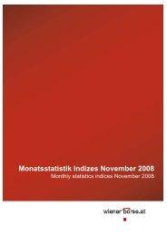 Monatsstatistik Indizes November 2008 - Indices.cc