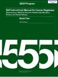 Self Instructional Manual for Cancer Registrars - SEER - National ...
