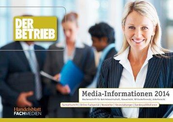 Mediadaten - Handelsblatt Fachmedien GmbH