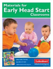 Materials for Early Head Start - Lakeshore Learning Materials