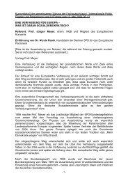 Protokoll - Internationale Politik, Frieden und Entwicklung