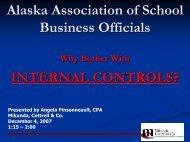 Internal Controls - alaska association of school business officials
