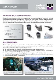 Dépliant branche TransportPDF, 757,72 kB - Welser Profile AG