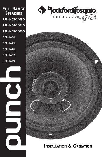 • Full Range Speaker Manual
