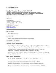 Dr. Gompf's CV - University of South Florida