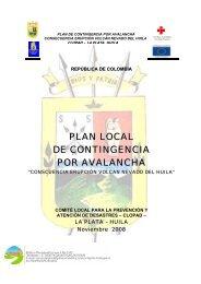 PLAN LOCAL DE CONTINGENCIA POR AVALANCHA - La Plata