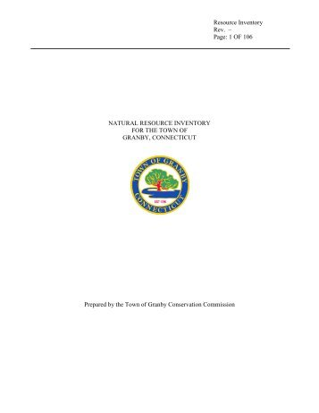 Natural Resource Inventory - Town of Granby