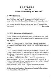 Gemeinderatssitzung vom 09.09.2004 (79 KB) - .PDF - Ehenbichl